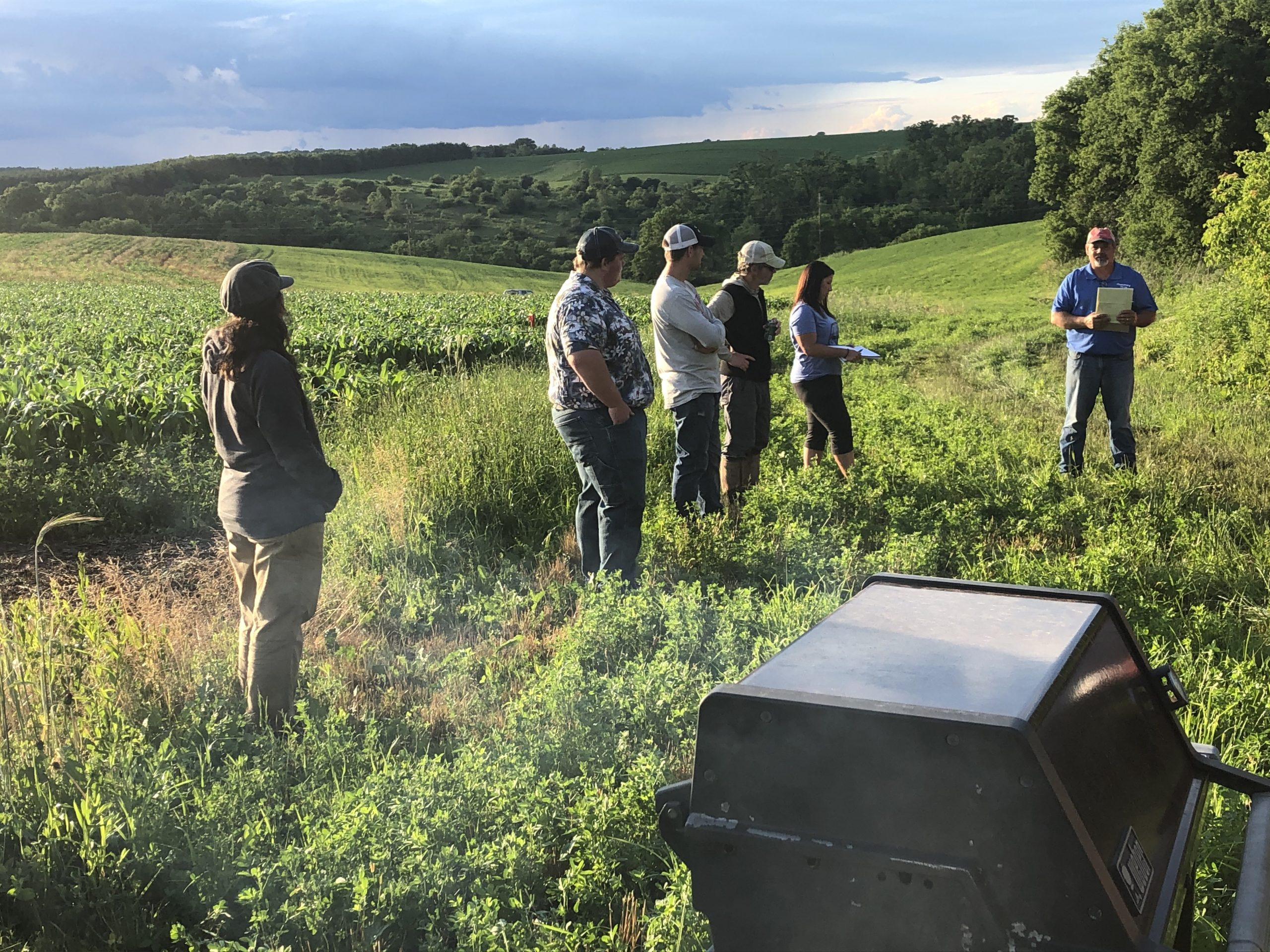 Tainter Creek in-field meeting June 2020