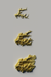 3D views of Bad Axe watershed