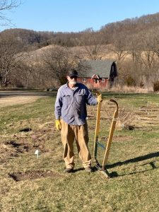 Tom with sod cutter